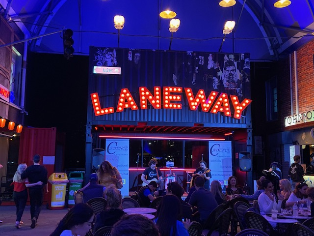 Laneway at Eat Street offers more intimate dining and music from Spanish, Latin, Jazz, Blues and so much more