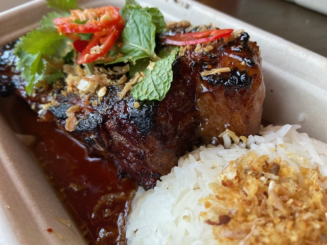 18hr char grilled beef brisket with tamarind glaze from Rogue Spice at Eat Street